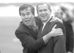 Jeb Bush with brother.