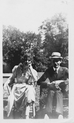 Dr. Eva Holway and Dr. Frederick Albrecht treated Debs at Lindlahr Sanitarium, Elmhurst, Illinois (August 1922).